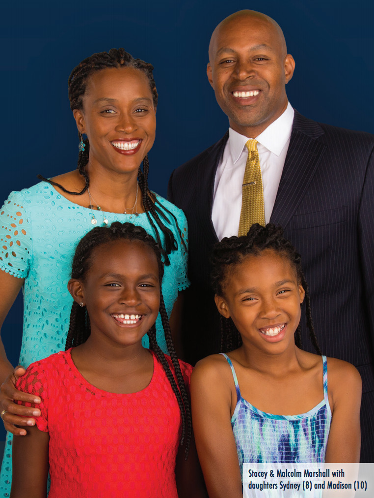 Stacey & Malcolm Marshall with daughters Sydney and Madison
