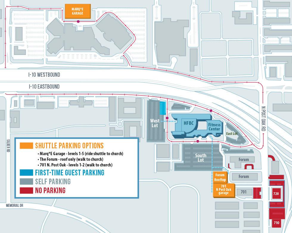 Shuttle Parking Map March 2020